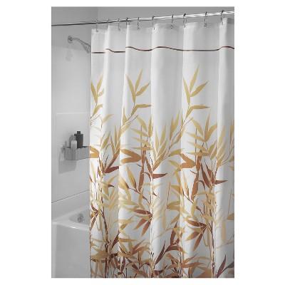 Shower Curtain Interdesign Leaf Brown