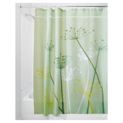 Shower Curtain Interdesign Floral Green