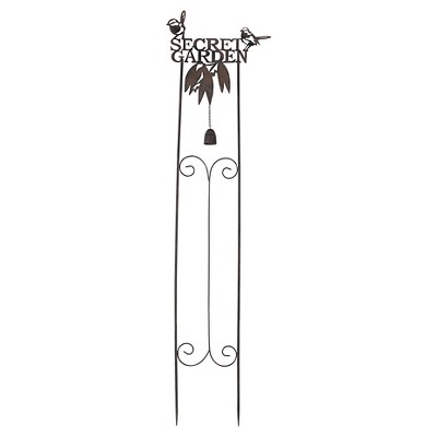 Sunjoy 110309056 Secret Garden Stake made of Antique Finished Metal, 53 Inches