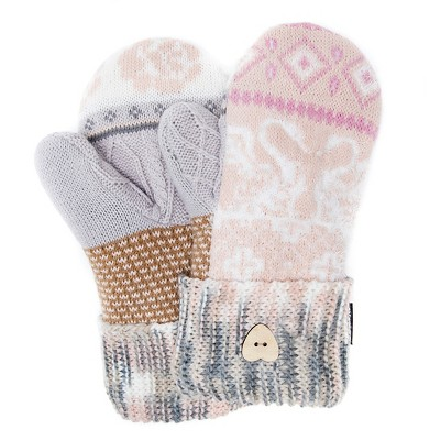 Women's Romance Potholder Mittens - Light Pink