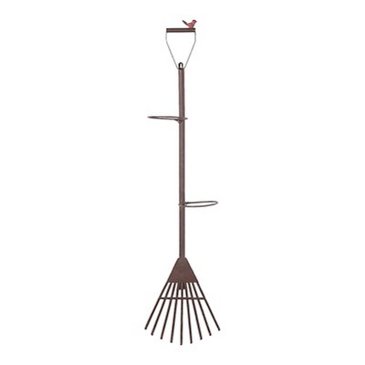Sunjoy 110311021 Vintage Shovel and Rake Wall Mount Plant Holder Set, 46 Inches