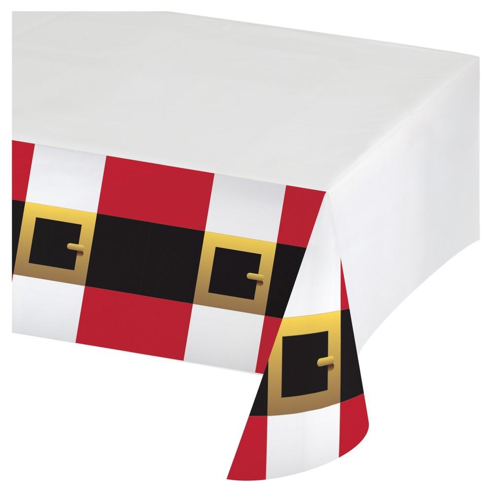 Santa Scenes Plastic Tablecloth , each