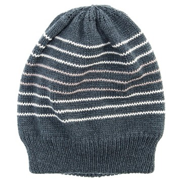 Men's Striped Beanie - Gray