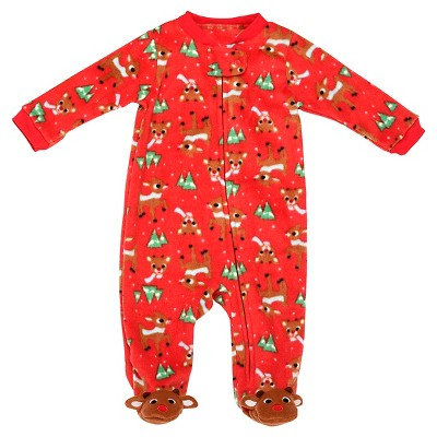 Rudolph the Red-Nosed Reindeer® Baby Printed Blanket Sleeper - Red 3M