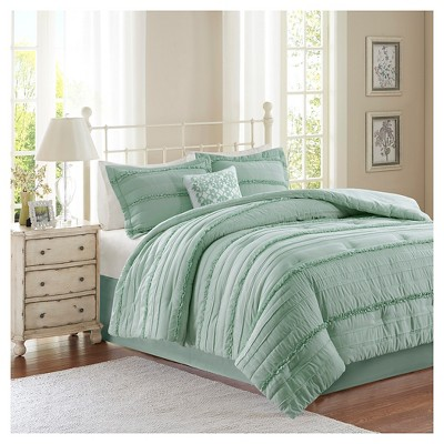 Alexis Comforter Set (Queen) Green - 5pc