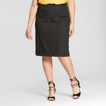 Women's Plus Size Pleat Back Pencil Skirt - Who What Wear ™