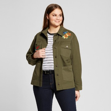 Women's Plus Size Patchwork Jacket - Who What Wear ™