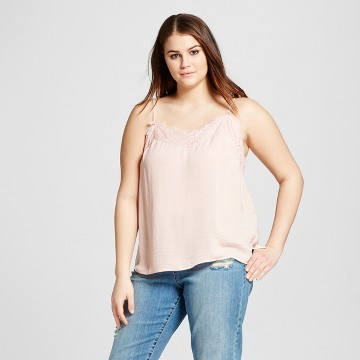 Women's Plus Size Lace Trim Cami - Who What Wear ™