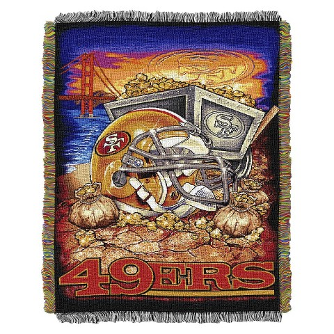 San Francisco 49ers Woven Tapestry Throw