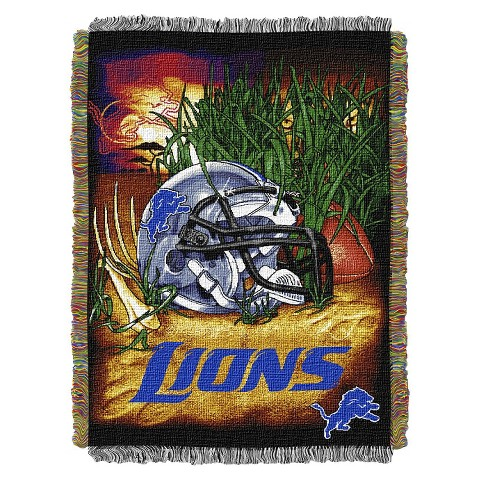 Detroit Lions Woven Tapestry Throw
