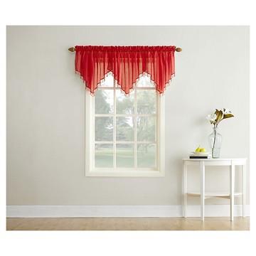 red orange sheer curtains Tar