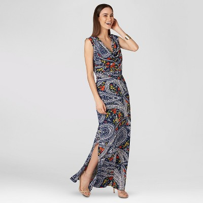 short sleeve chevron maxi dress