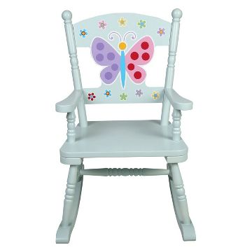 Olive Kids Butterfly Garden Rocking Chair - Blue - Levels Of Discovery