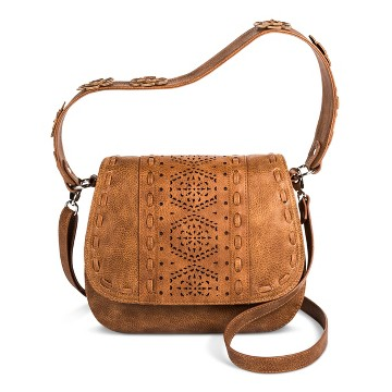 Cross Body Bags Bolo Shopping Bag Brown Mosaic Design