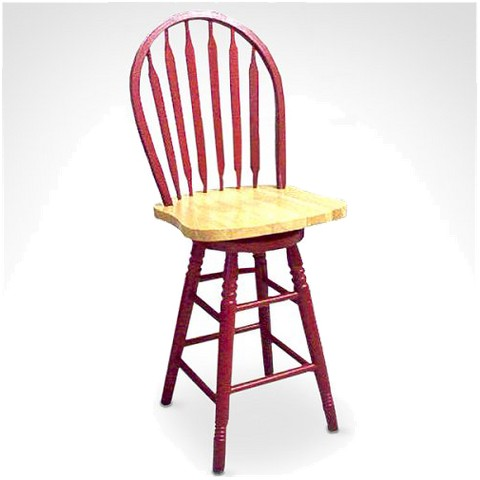 Arrowback Red Stool