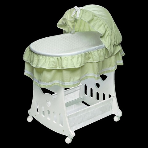 Badger Basket 2 in 1 Portable Bassinet with Toy Box Base - Sage