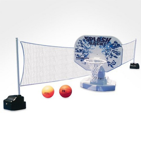 Poolmaster Splashback Poolside Basketball/Volleyball Game