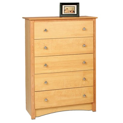 5 Drawer Dresser - Maple