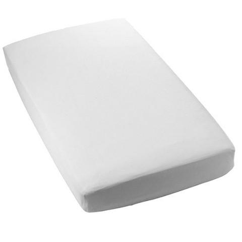 Secure-Fitting White Crib Sheet - Set of 2