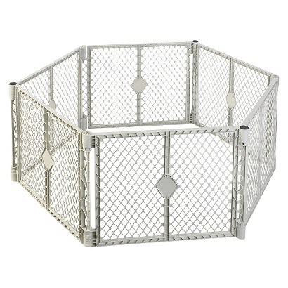 Superyard XT Play Gate by North States Industries - Light Grey