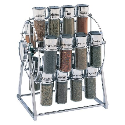 Olde Thompson Ferris-Wheel Chrome 20-Jar Filled Spice Rack