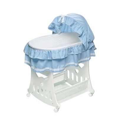 Badger Basket 2-in-1 Portable Bassinet with Toy Box Base - Blue
