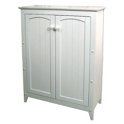 White Double Door Jelly Cabinet