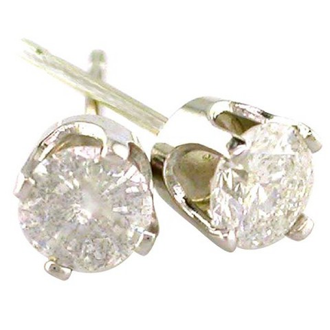 1/4 CT.T.W Diamond Stud Earrings in 14K White Gold (IJ-I2-I3)