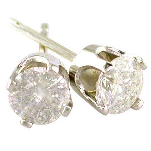 1 CT.T.W. Diamond Stud Earrings in 14K White Gold