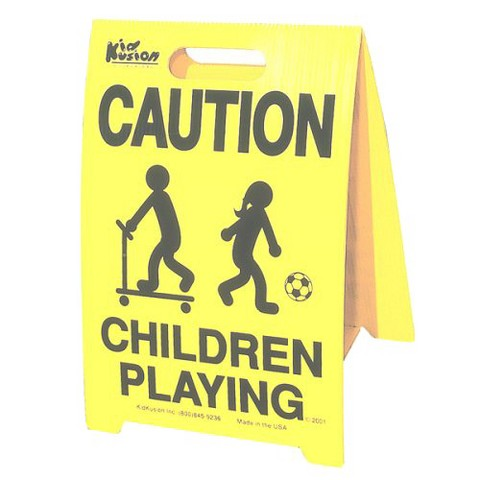 Caution Children Playing Signs - 2 Pack
