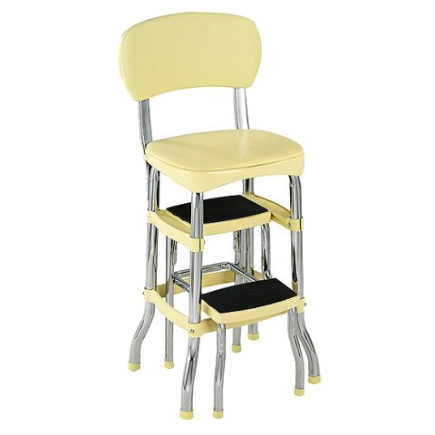 Cosco Retro Chair with Step Stool - Yellow