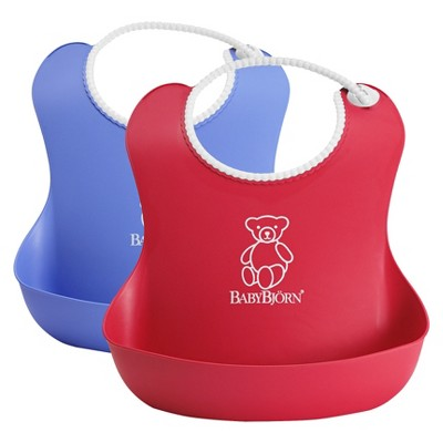 BABYBJöRN Soft Bib - Red/Blue 2Pk