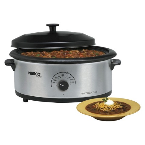 Nesco 6-Quart Roaster Oven, Nonstick - Stainless Steel