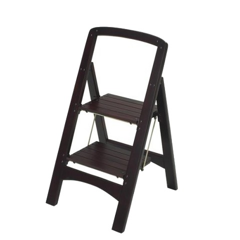 Cosco Rockford 2-Step Wood Stool - Mahogany