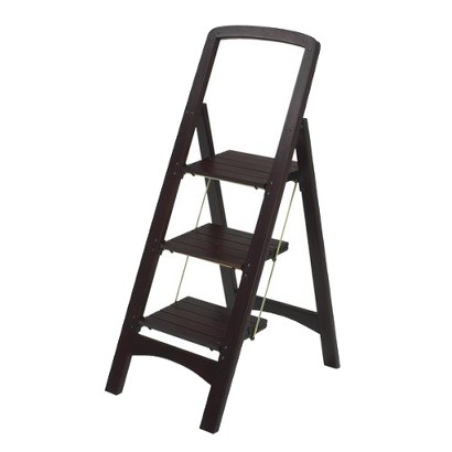 Cosco Rockford 3-Step Wood Stool - Mahogany