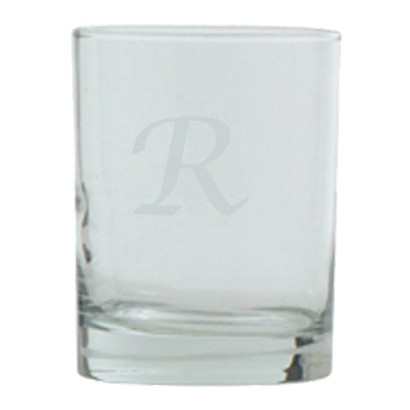 Script Monogram Double Old Fashioned Set - R