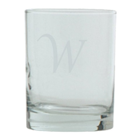 Script Monogram Double Old Fashioned Set of 4