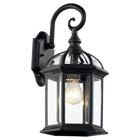 Antiqued Black Wall Mount Lantern