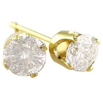1/2 CT.T.W. Diamond Stud Earrings in 14K Yellow Gold