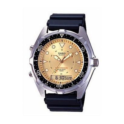 Men's Casio Marine Gear Analog Dive Watch - Black/Silver
