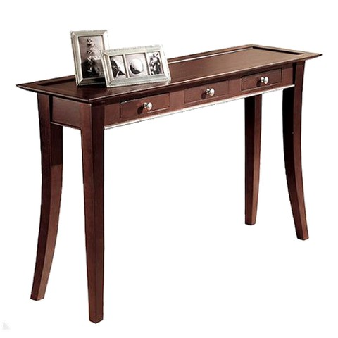 Linon Dolce Dark Walnut 3-Drawer Console Table