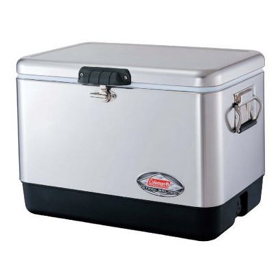 Coleman® 54 Quart Stainless Steel Belted Cooler®