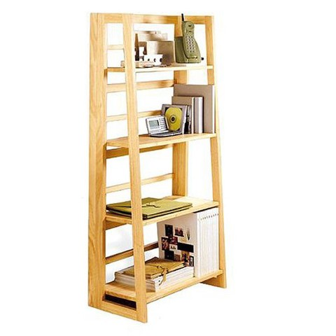 Linon Mission Folding Bookcase - Natural
