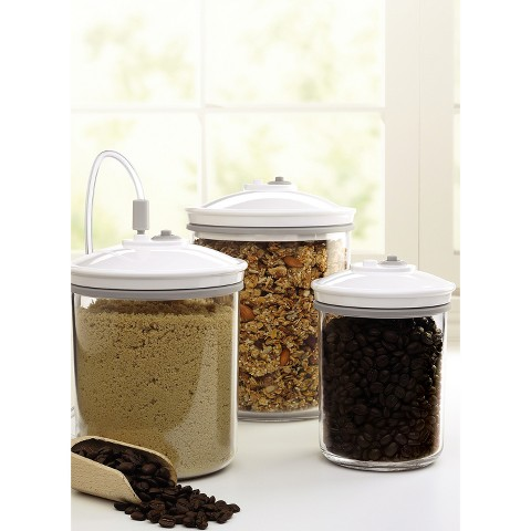 FoodSaver® 3 Piece Round Canister Set, T02-0052-01P