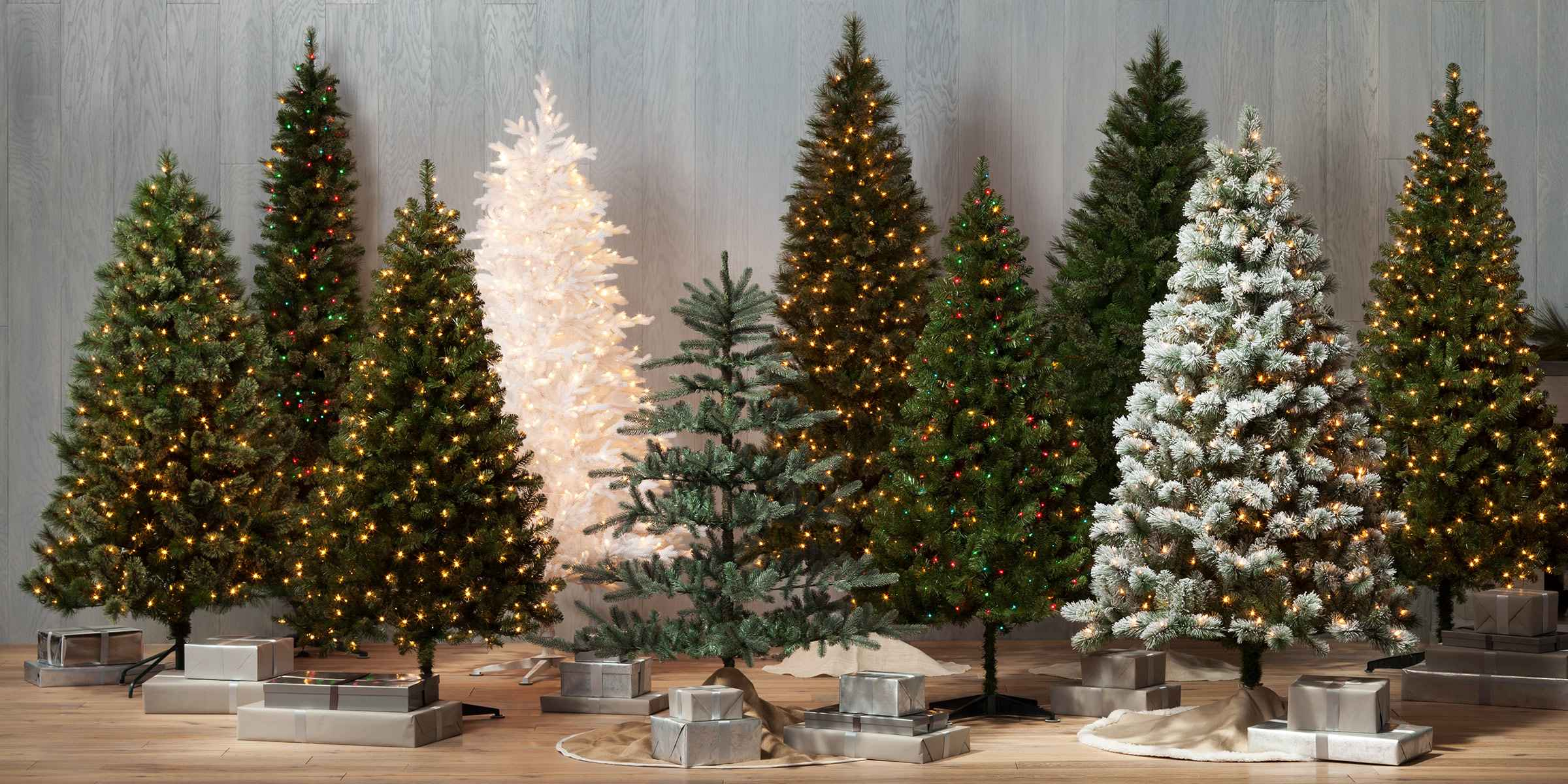 Multicolored Christmas Trees Target