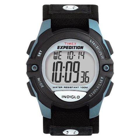 Men's Timex® Chrono-Alarm-Timer Expedition Watch - Black/Blue