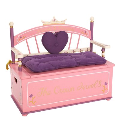 Levels of Discovery Princess Toy Bench - Pink/Purple