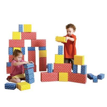Edushape Cardboard Block Set - 52 Piece