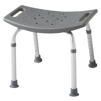 Medline Bath Bench - Gray and White