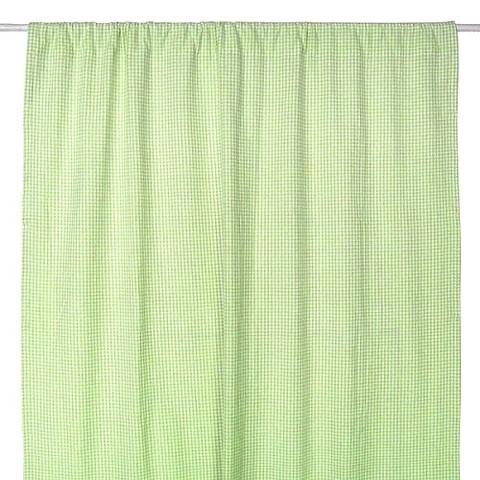 Tadpoles Basics Green Gingham Drapes